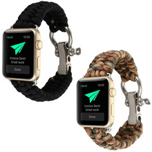 Sport Woven nylon band strap for apple watch band 42mm 38mm Survival Rope wrist bracelet strap for apple iwatch 1/2