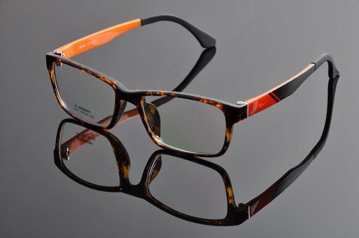 Новые модные очки Ретро винтажные металлические простые оправы оптические очки мужские женские оправа для очков от близорукости oculos de grau DD0877 - Цвет оправы: LEOPARD