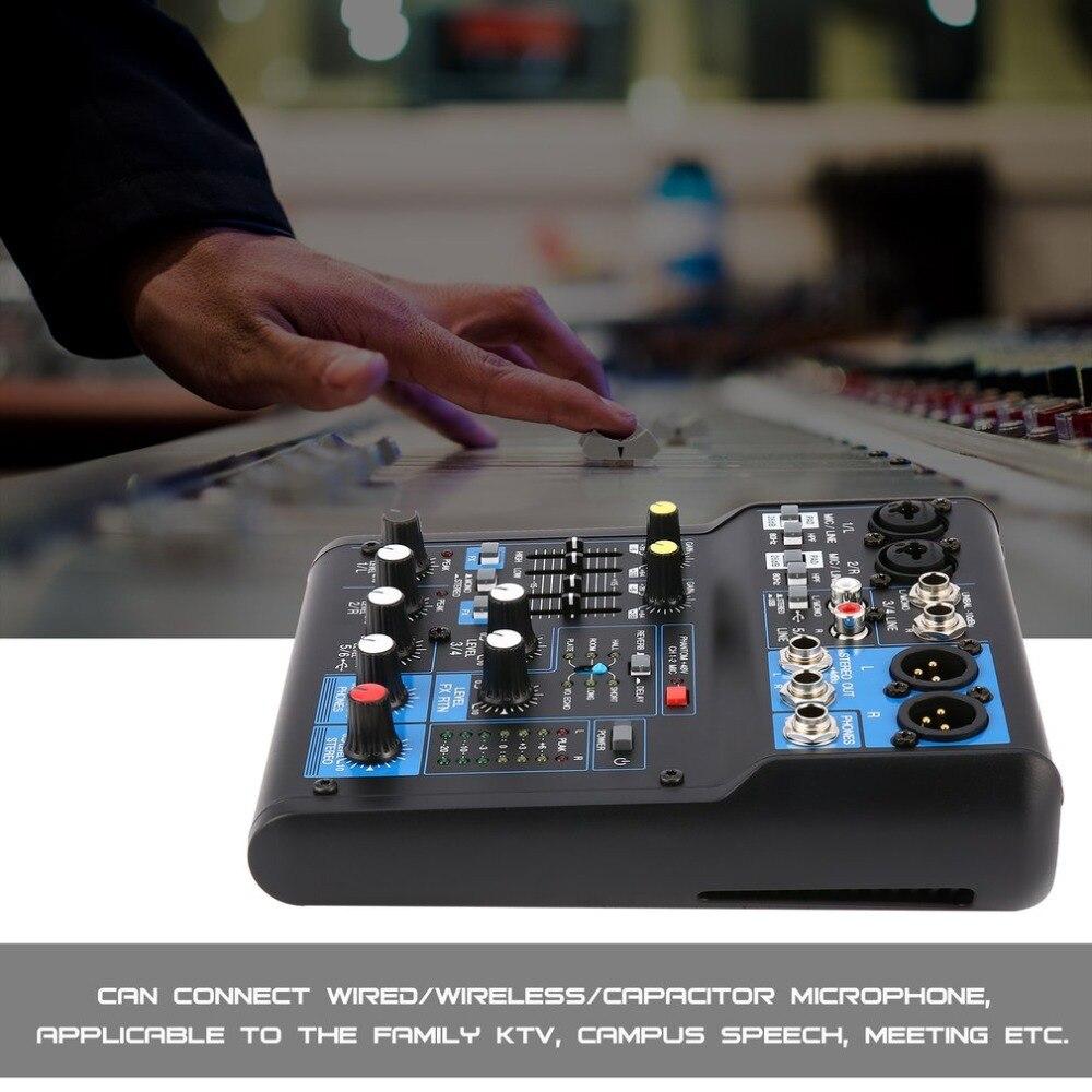 Ehrlich 8 Kanal Bluetooth Audio Mixer Digital Wirkung Dj Karaoke Musik Sound Usb Ausrüstung Mischen Controller Mit 48 V Phantom Power Usb Tragbares Audio & Video