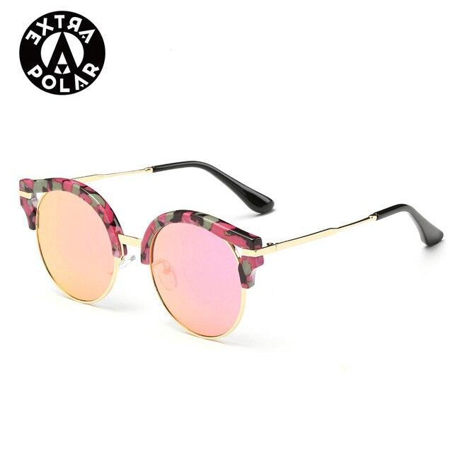 2016 new marca designer rodada óculos de sol mulheres oculos de sol uv400 pontos óculos de sol moda feminina óculos máscaras ao ar livre das mulheres
