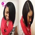 Высокое качество перуанский необработанные короткий парик человеческих волос 100% девственницы человеческих волос у части боб парики для чернокожих женщин шелковистая прямая
