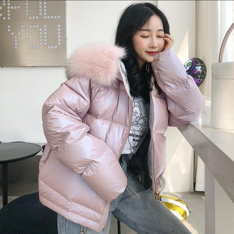 Women Winter Jacket Real Fox Fur Hood   Down     Coat   Thick Warm 2018 Fashion Natural Fox Fur Collar Duck   Down   Jacket Real Fur   Coat