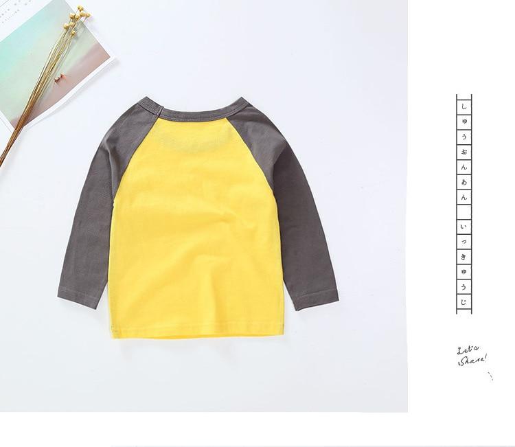 New Spring Boys Girls Cartoon Cotton T Shirts Children Tees Boy Girl Long Sleeve T Shirts Kids Tops Brand Baby Clothes 12M-8Y 13
