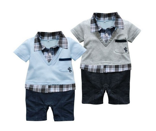 1pc Newborn Ropa de Bebe Children Baby Clothes Boy Kids Toddler Infant Plaids Romper Rompers Jumpsuit Clothes Vestidos Outfit summer 2017 navy baby boys rompers infant sailor suit jumpsuit roupas meninos body ropa bebe romper newborn baby boy clothes