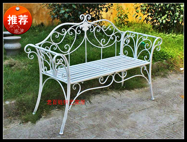 Factory Direct American Country Wrought Iron Park Chairs Leisure Chairs  Cool Balcony Chair Double Chair Chairs