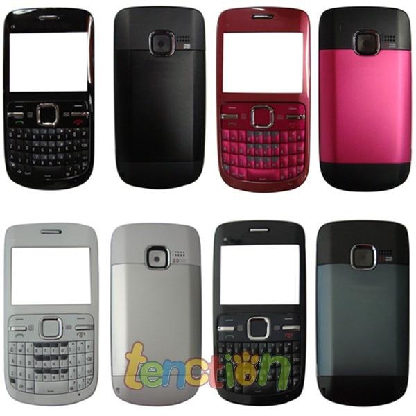 cheaper f4f2e 47e9e US $6.29 |Full Housing Case Cover Fascia Bezel Rear Faceplate Shell  +Keyboard Keypad for Nokia C3 C3 00 Black White Red Hot Pink Blue Gold on  ...