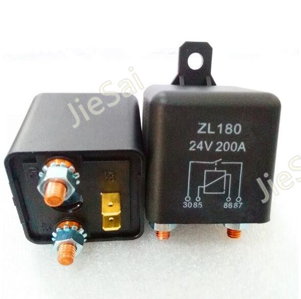 High Power Car Relay 24VDC 200A Car Truck Motor Automotive Car Relay starting Relays and continuous relay