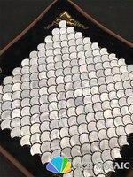 Biały kolor perłowa mozaika backsplash kuchni i łazience płytki ścienne 11 metrów kwadratowych/lot wentylator wzór