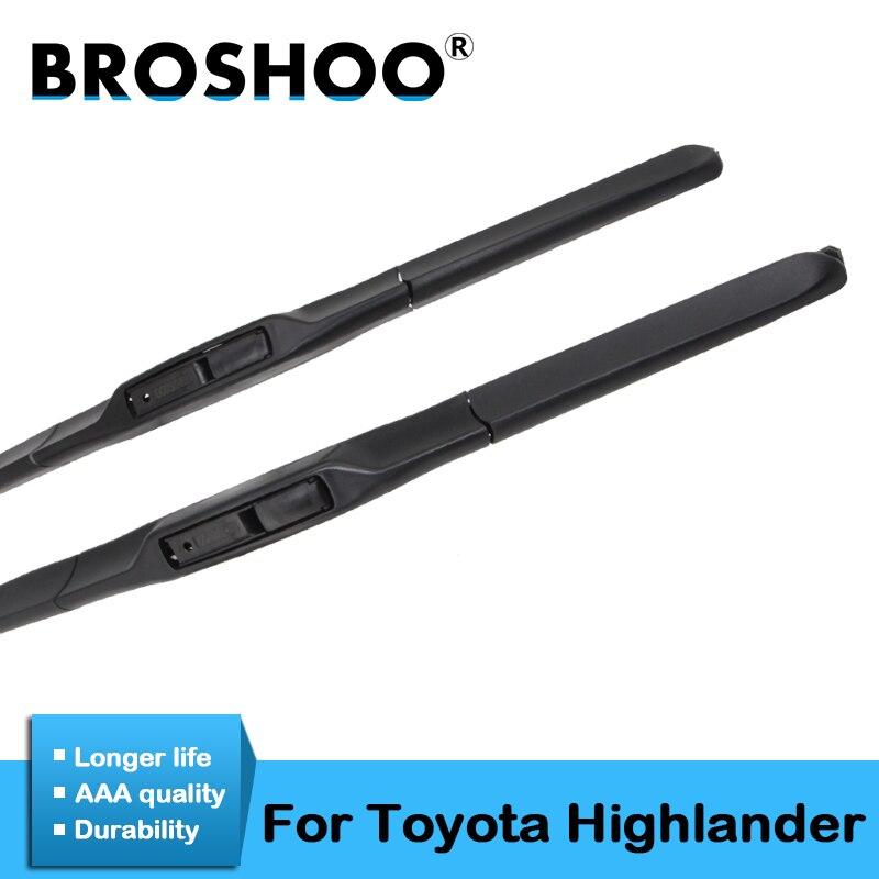 BROSHOO Car Wipers Blades For Toyota Highlander 2001 2002 2003 2004 2005 2006 2007 2008 2009 2010 2011 2012 2013 2014 2015 2016