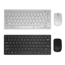 GuHo Ultra Slim Wireless Keyboard and Mouse Combo Set 2.4G Optical Keyboard Mause for Xiaomi Apple Smart TV Mac Windows