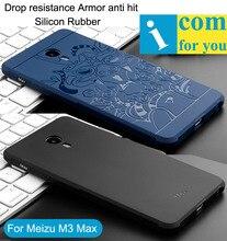 Сопротивление падение Броня анти хит Case Для Meizu M3E M1E 3D резной Дракон Силиконовый Чехол М3 Макс