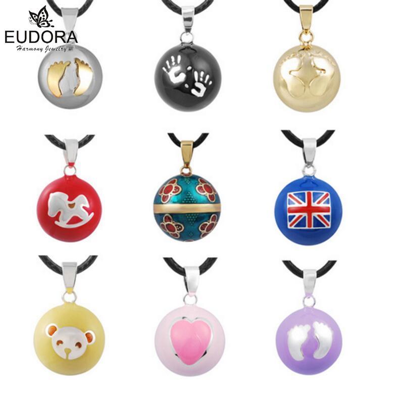 19 Styles Eudora Jewelry Harmony Bola Ball Maternity Pendant Musical Bola Chime Sounds Angel Caller Balls Pendants Necklace