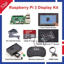 Original Raspberry Pi 3 16GB Starter Display Kit with 7 inch 1024 600 Touch Screen 5V
