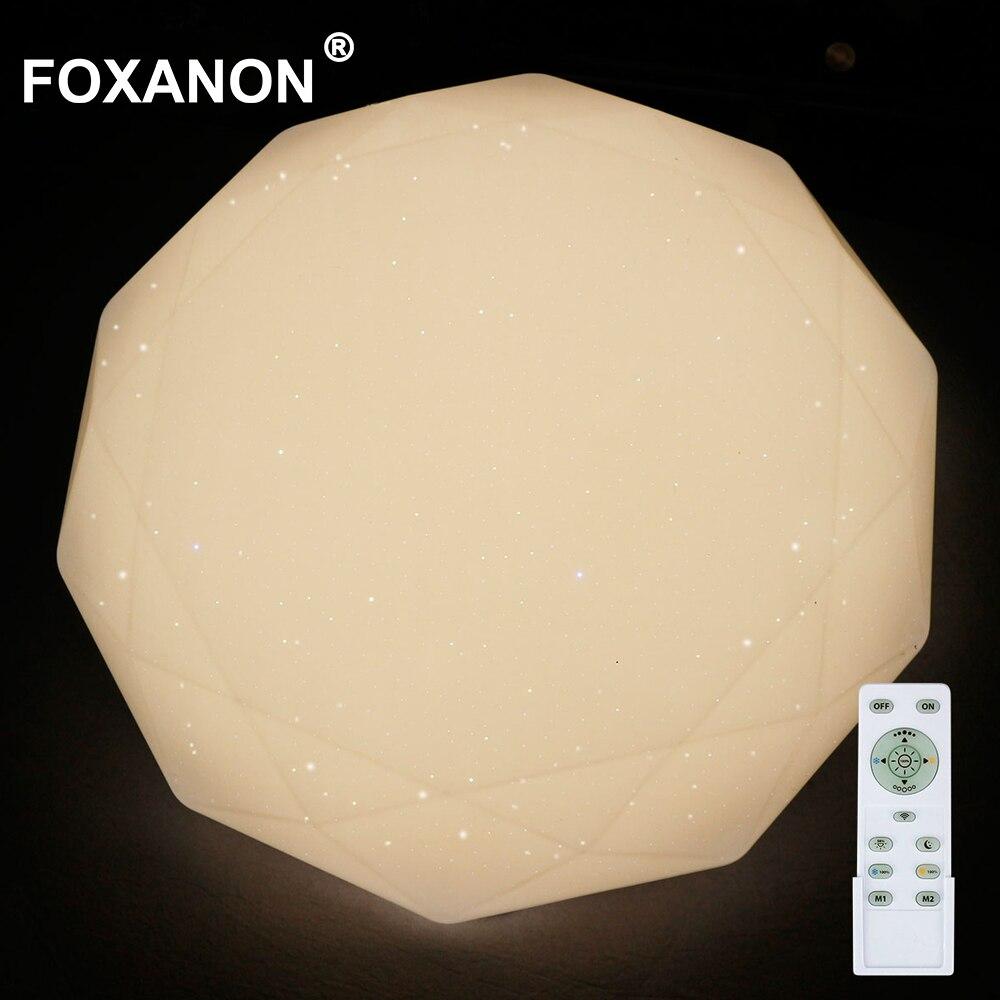 Foxanon 220ボルトledシーリングライトパネル調光可能なランプ24ワット50ワットダイヤモンド天井ダウンライトled表面実装ナイトライトbedroon  グループ上の ライト & 照明 からの LED パネルライト の中 1