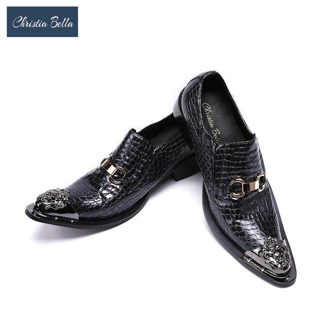 chaussures hommes de cuir gentleman christia bella hommes chaussures fête bcd6d2