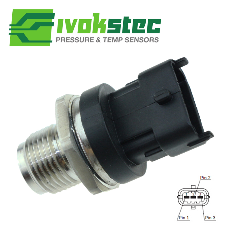 Brand New 1800 Bar Fuel Rail Pressure Sensor For Ford Ranger Everest Mazda BT-50 BT50 2.5 3.0 2008 0281006018 WE01-13-GC0 цена
