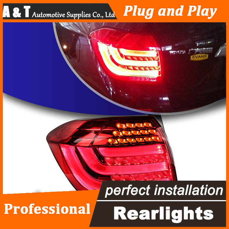 Car Styling LED Tail Lamp for Toyota Highlander Taillights 2012-2014 Rear Light DRL+Turn Signal+Brake+Reverse auto Accessories car styling tail lights for toyota highlander 2012 led tail lamp rear trunk lamp cover drl signal brake reverse