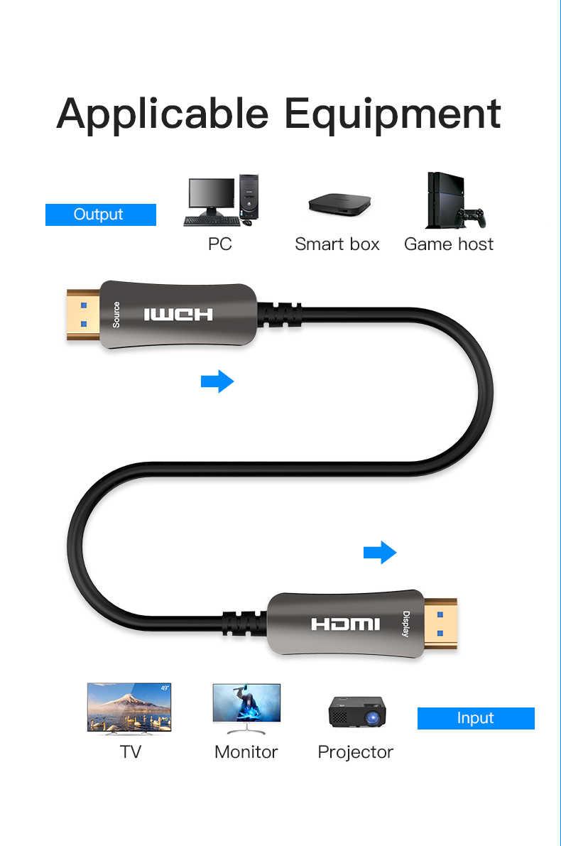 4 K 60Hz HDMI кабельное волокно-оптический кабель HDMI 2,0 2.0a HDR для HD TV Box проектор PS4 HDMI кабель 2 м 3 м 5 м 10 м 15 м возможностью погружения на глубину до 30 м 50 м-200 м