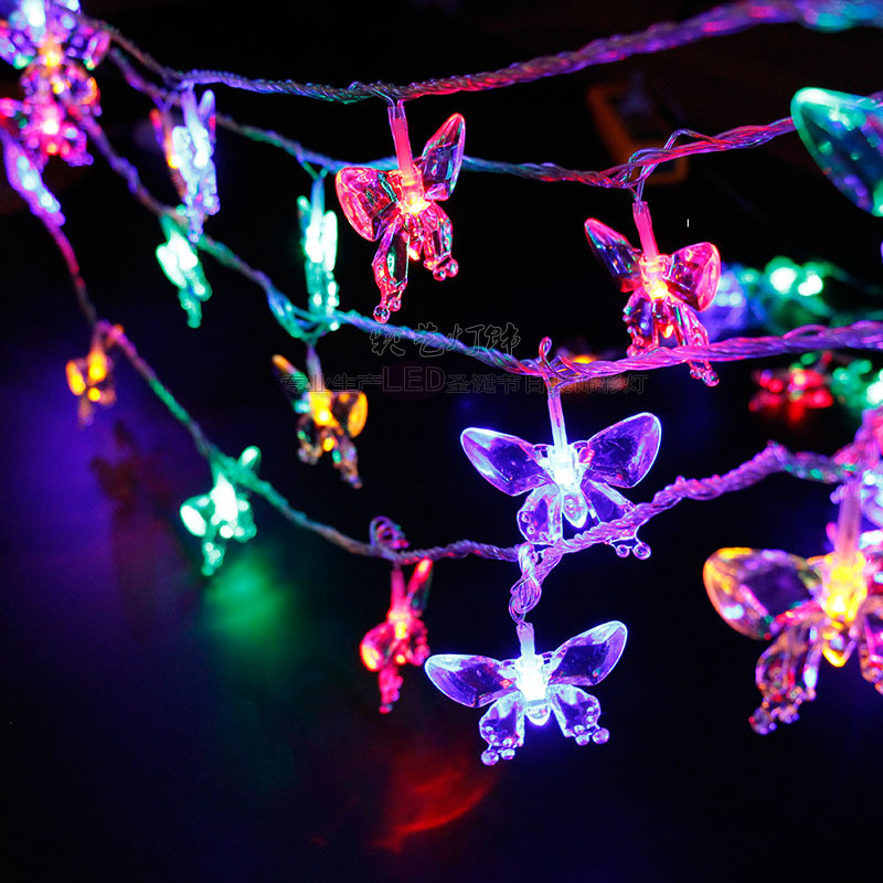 Solar LED String Lights Butterfly Light String Outdoor Indoor Decoration Lamps For Lawn Patio Garden Flowers Windows Room Wall