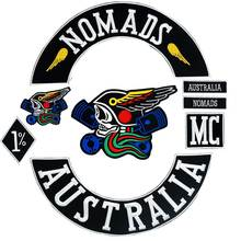 NOMADS AUSTRALIA patch Embroidered punk biker Patches Clothes Stickers Apparel Accessories Badge 8 pcs/lot australia 100 page 8