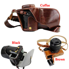 جديد فاخر بو الجلود كاميرا حافظة لسوني A7II A7 مارك 2 A7R2 A7R II حقيبة كاميرا الغلاف مع حزام فتح البطارية تصميم