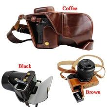 Новый роскошный PU кожа Камера чехол для Sony a7ii A7 Mark 2 a7r2 A7R II Камера сумка Обложка с ремешком открытый дизайн аккумулятора