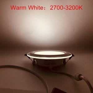 Image 5 - Ấm/Tự Nhiên/Trắng Lạnh 3 Màu Sắc Có Thể Thay Đổi Đèn LED Âm Trần Downlight Đèn LED Âm Trần Bảng Điều Khiển 10 Cái/lốc, DHL Miễn Phí Vận Chuyển
