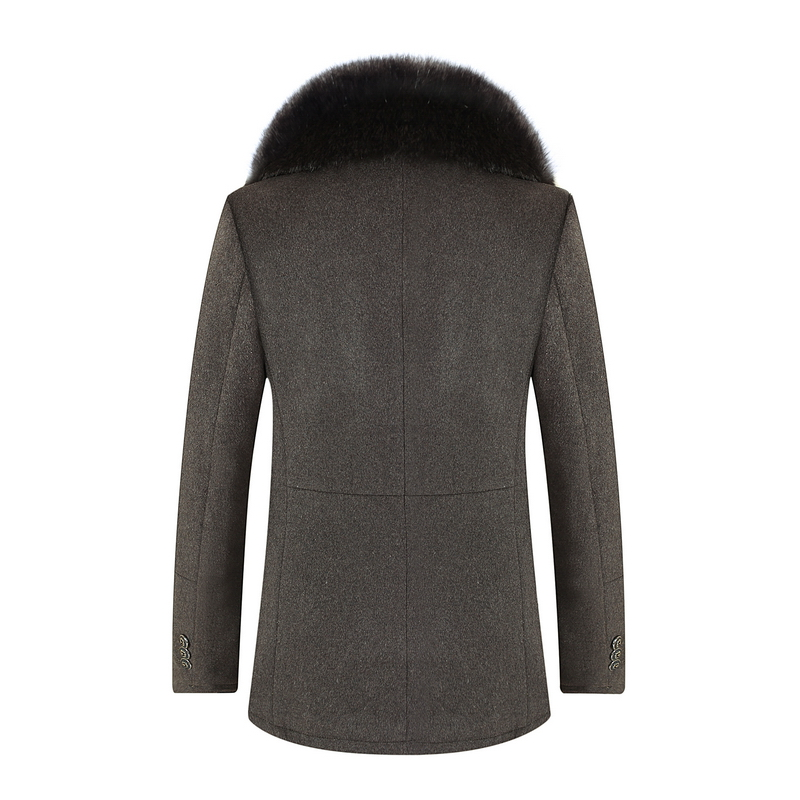 Winter high quality woolen jacket Men's fashion Business thicken trench coat Men's casual coat Classic men overcoat 6 colours - 3