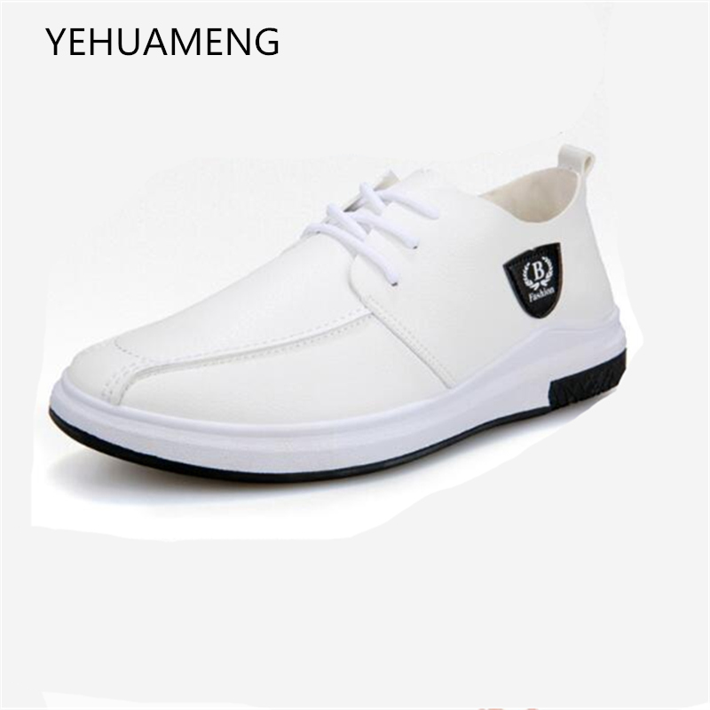 In de lente van 2018 New Men's Wear Fashion lederen - Herenschoenen