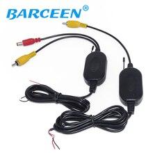 2.4 ГГц Беспроводной RCA видео передатчик приемник комплект для автомобиля DVD монитор для подключения Автомобильная камера заднего вида Обратный резервного копирования