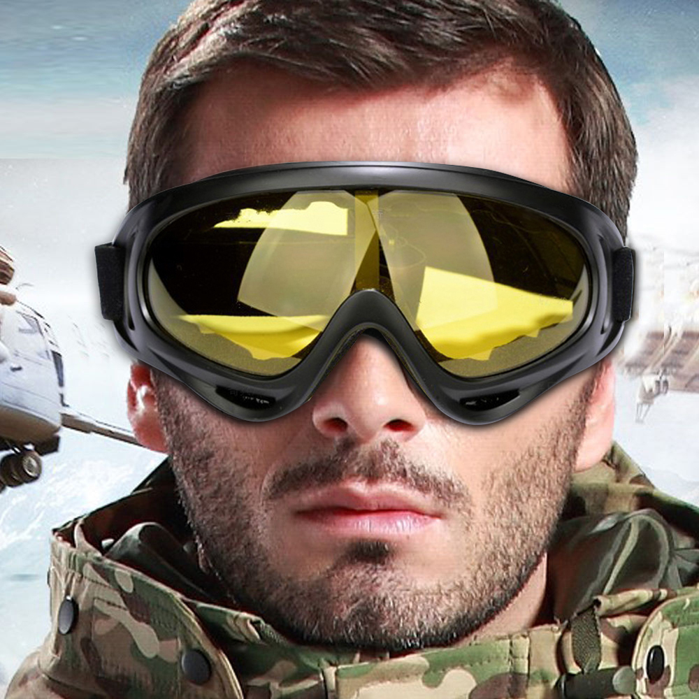 Brand Windproof Outdoor Bike Cycling PC Lens large Frame Glasses Skiing Eyewear Snowboarding Protective Goggles Free shipping!