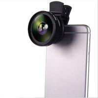 1 Pcs Universel 2 en 1 37mm Connecteur 49mm UV 0.45x grand-angle + 12,5X Macro Objectif pour Samsung s5 s6 s7 Téléphone Caméra Noir En Gros