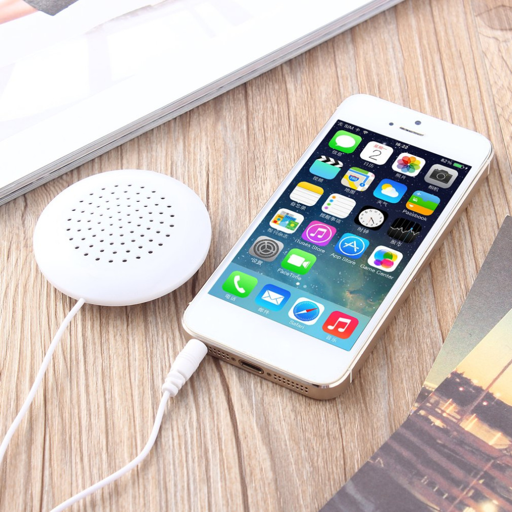 US $1 29 25% OFF|Mini Speaker DIY 3 5mm Mini Louder Speakers Music Pillow  Stereo Speaker For MP3 Phone For iPhone For iPod Touch CD Portable-in