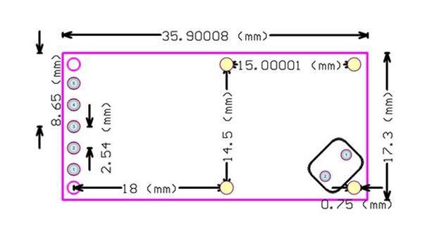 RCWL-0516 dimension