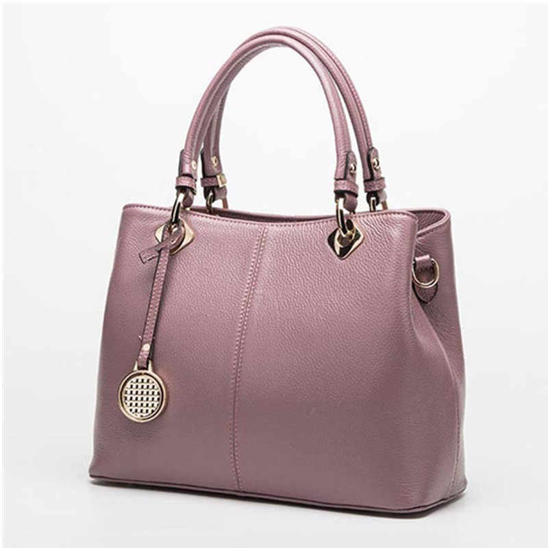 73c7089c7b ... Fashion Real Leather Tote Bag Women Cow Leather Ladies Handbags Women  Genuine Leather Handbags High Quality ...