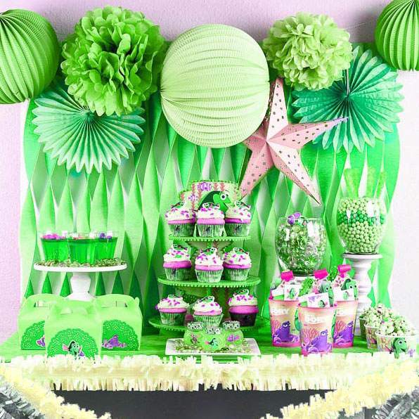 20Pcs of green Tissue Paper Pom Poms 8 inches for Birthday/& Party Decor supplies