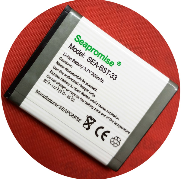 Livraison gratuite détail Mobile téléphone batterie BST-33 pour Sony Ericsson K530i, K550i, K630i, K660i, K800i, K810i, M600i, P990i, W890