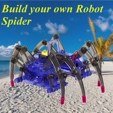 1pc Hot Sale Creative Educational High-tech Small Experiment Set Electric DIY Puzzle Spider Robot Kids Toys(China)