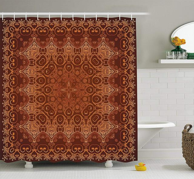 Antique Shower Curtain Vintage Lacy Persian Arabic Pattern From Ottoman Empire Palace Carpet