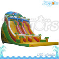 Cartoon Theme Colorful Inflatable Double Slides For Kids Park