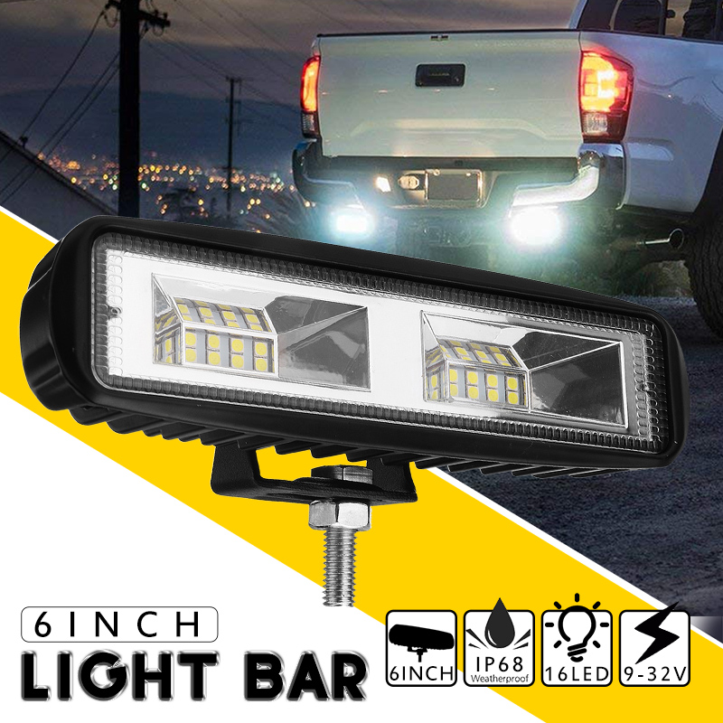 48W 12V 24V LED Work Light Bar Flood Lamp Driving Fog Offroad LED Work Car Light for SUV 4WD Truck auxting 10x 18w spot light flood lamp driving fog led work light bar offroad led work car light for jeep suv 4wd led beams 12v