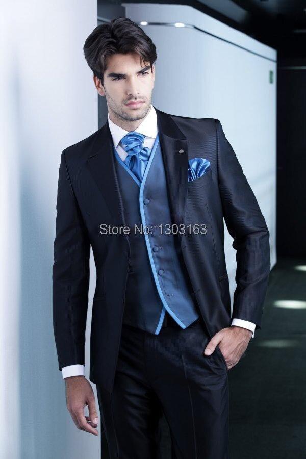 Для мужчин Костюмы Новый Дизайн темно-синий жених Смокинги для женихов Для мужчин Best человек костюм Для мужчин Нарядные Костюмы для свадьбы... ...