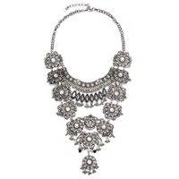 Flower Maxi Necklaces Collier Femme Necklaces Vintage Black Tassels Long Carving Pendants Bohemian Boho Jewelry For