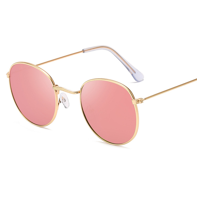 Classic Small Frame Round Sunglasses Brand Designer Alloy Mirror Sun Glasses 2