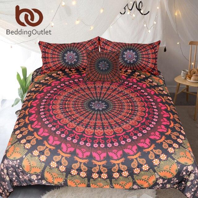 Beddingoutlet Mandala Floral Ensemble De Literie Cache Couvre Lit