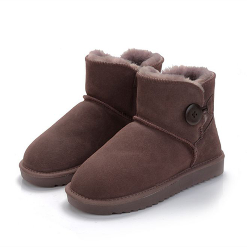 Winter women boots Flat bottom Buckle Grind snow bo