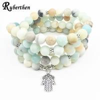 Ruberthen New Design Women S Yoga Bracelet Fashion Girl S Hamsa Bracelet Or Necklace 108 Mala
