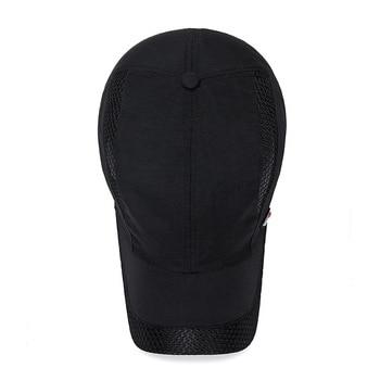 2020 Summer New Mens Outdoor Sport Sunscreen Baseball Hat Running Visor Cap Breathable Quick Dry Mesh Caps Gorras Chapeu 8