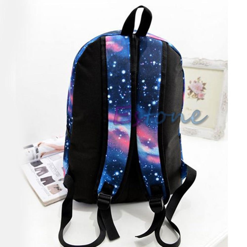 New Unisex Galaxy Space Bookbag Travel Rucksack School Bag Satchel Backpack