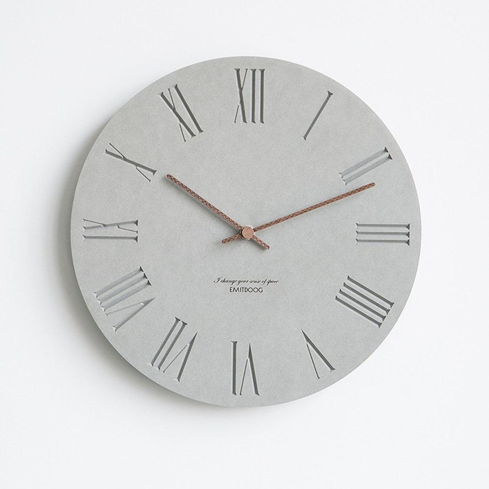 12 Inch Nordic Wall Clock Modern Creative Clock Minimalist Living ...